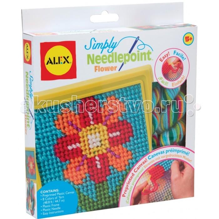 Наборы для творчества Alex Набор для вышивания Цветок alex большой набор мой первый набор для шитья