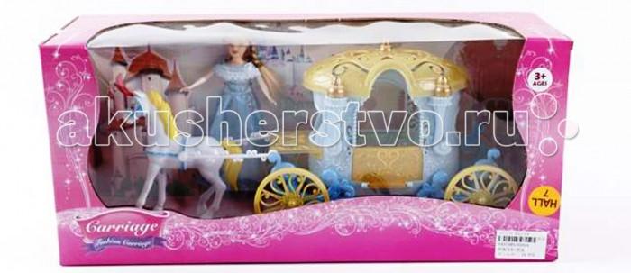 Куклы и одежда для кукол Veld CO Набор Кукла лошадь с каретой 47575 игровой набор маленькая кукла принцесса и ее друг в ассорт