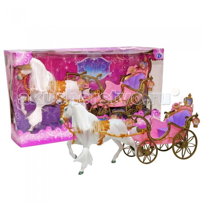 Veld CO Набор Лошадь с каретой 24730Набор Лошадь с каретой 24730Veld CO Набор Лошадь с каретой 24730  Карета с лошадью, очень яркая и красочная игрушка, понравится любой девочке. Карета запряжена лошадью с длинной гривой, которую можно расчесывать, украшать бантиками и заколками. А в карете можно катать своих любимых кукол. Работает от батареек.  Возраст: от 3 лет<br>
