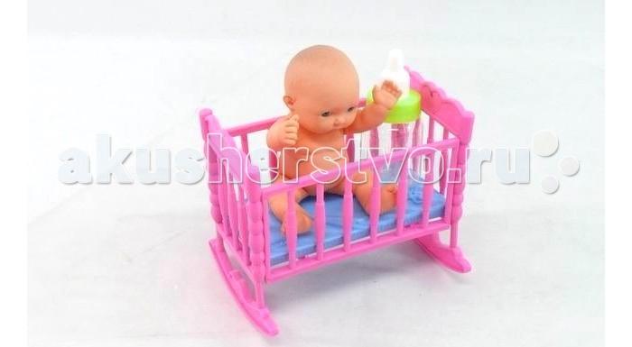 Куклы и одежда для кукол Veld CO Пупс в кроватке подарочные пакеты veld co набор из 12 пакетов 27 5х33х12 см