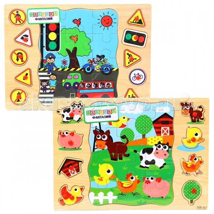 Деревянные игрушки Фабрика фантазий Пазл 49251 пазлы crystal puzzle 3d головоломка вулкан 40 деталей