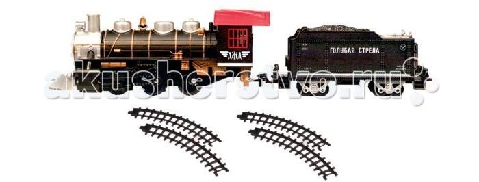 Железные дороги Голубая стрела Железная дорога с тремя вагончиками 124 см 87164