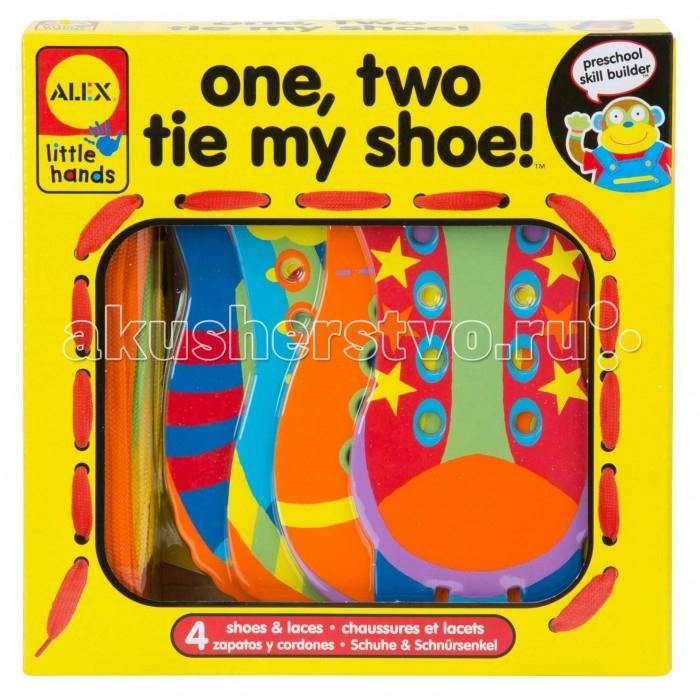 Развивающие игрушки Alex Игрушка-шнуровка Раз, Два, зашнуруй меня игрушка для ванной alex alex игрушка для ванной черепашка