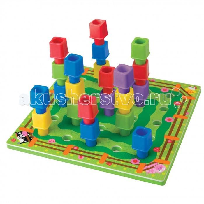 Развивающая игрушка Alex Игрушка-пирамида Создай веселую ферму