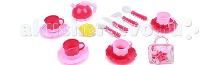 Кукольные домики и мебель Игруша Посуда для кукол 14 предметов в сумочке коляски для кукол игруша 9866t