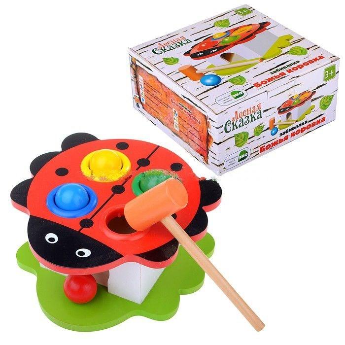 Деревянная игрушка Фабрика фантазий Забивалка Божья коровка 42276