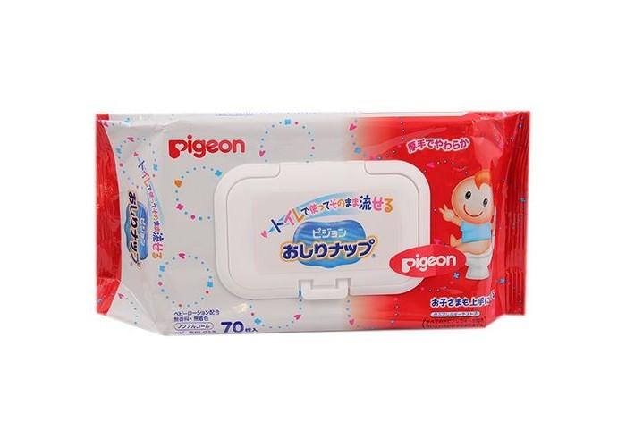Салфетки Pigeon Детские влажные гигиенические салфетки мягкая упаковка с клапаном 70 шт. pigeon салфетки влажные детские с антибактериальным эффектом с рождения