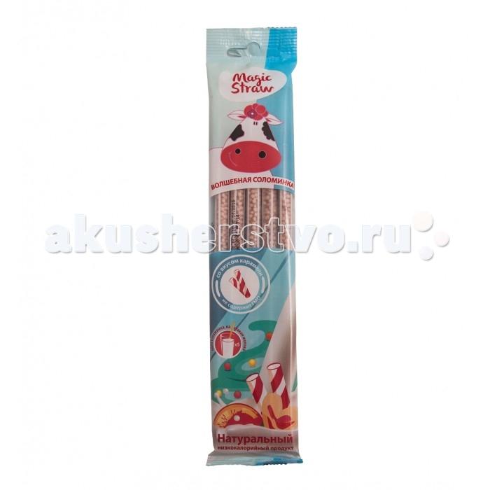 Молочная продукция Magic Straw Волшебная соломинка для молока со вкусом карамели 5 шт. молоко