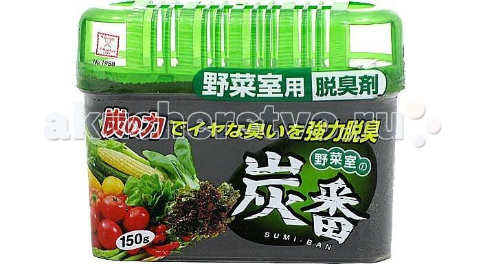Бытовая химия Kokubo Дезодорант-поглотитель неприятных запахов с древесным углём для холодильника (общая камера) 150 г поглотитель запаха для холодильника topperr 3103