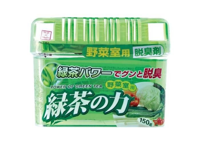 Бытовая химия Kokubo Дезодорант-поглотитель неприятных запахов экстракт зелёного чая для холодильника (овощная камера) 150 г поглотитель запаха для холодильников selena