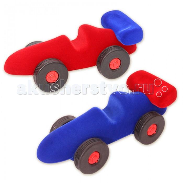 Развивающие игрушки Rubbabu Машина гоночная из натурального каучука с флокированным покрытием машины rubbabu скутер из натурального каучука с флоковым покрытием 21 см