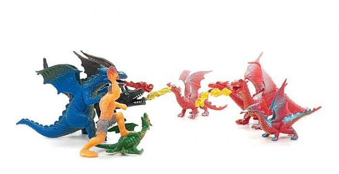 Игровые фигурки Happy Kin Набор Динозавров, в пакете рисуем 50 динозавров и других доисторических