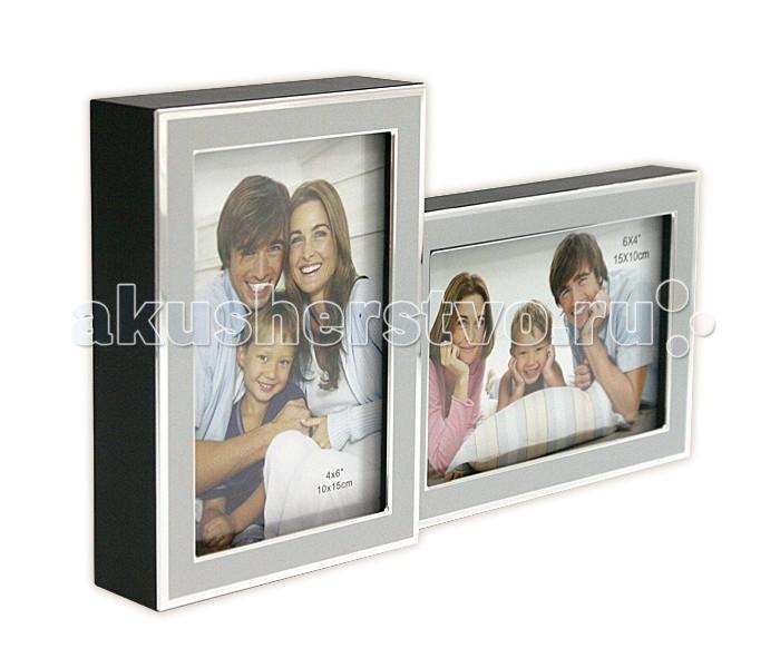 Фотоальбомы и рамки Veld CO Фоторамка 16991 10х15 (2) подарочная упаковка veld co бант шар 10 шт в наборе