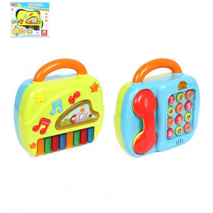 Развивающие игрушки S+S Toys Игровой развивающий центр на батарейках Пианино и телефон игрушка s s toys bambini 2 в 1 развивающий телефон и пианино сс76752