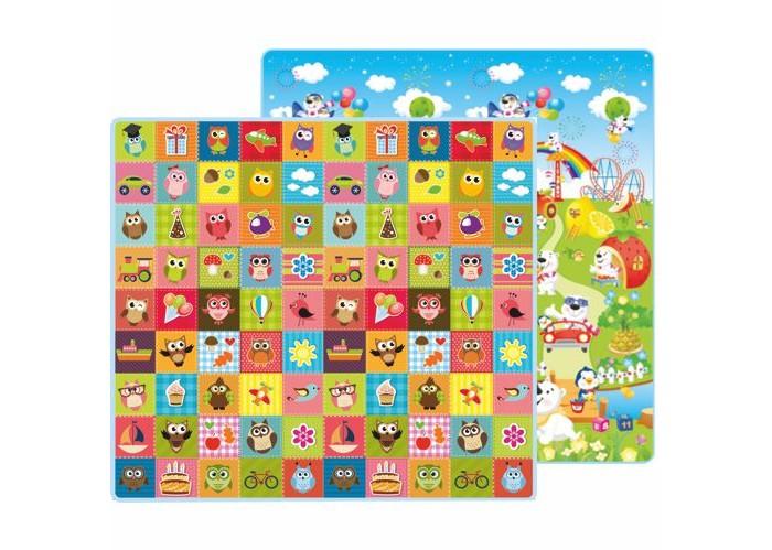 Игровые коврики Mambobaby Совята и Фруктовый парк двусторонний 200х180х1 см игровые коврики mambobaby город