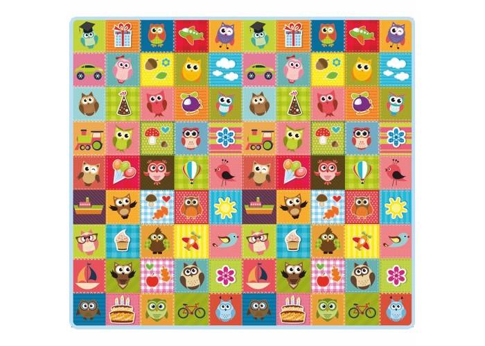 Игровые коврики Mambobaby Совята односторонний 200х180х0.5 см игровые коврики mambobaby город