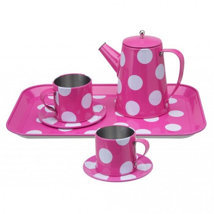 Ролевые игры Alex Чайный набор розовый в горошек игровой набор для девочки alex чайный сервиз поймай бабочку