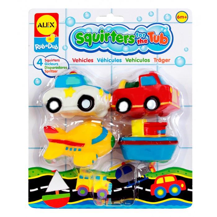 Игрушки для ванны Alex Игрушки для ванны Транспорт 4 предмета в сумке