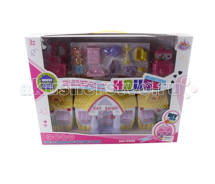 Veld CO Дом для кукол с аксессуарами 43870Дом для кукол с аксессуарами 43870Veld CO Дом для кукол с аксессуарами 43870  Красивый цветной домик для куклы, обязательно понравится вашей девочке, в нем есть все необходимое.  В наборе: кукла, дом, аксессуары  Возраст: от 3 лет<br>