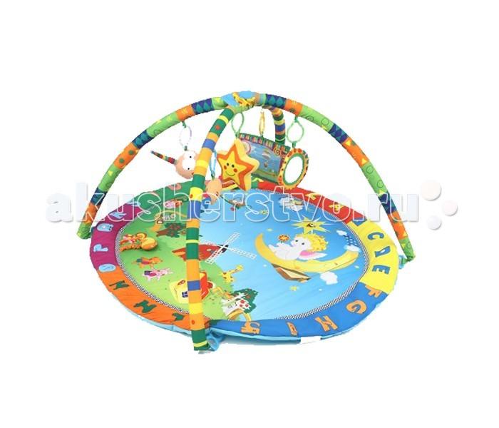 Развивающий коврик Leader Kids с подвесными игрушками Летняя полянка
