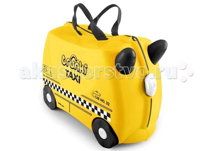 Trunki Детская каталка-чемодан Taxi Tony Тони таксистДетская каталка-чемодан Taxi Tony Тони таксистTrunki Taxi – новинка в серии детских чемоданов Trunki. Это заметный желтый чемодан стилизованный под такси. Чемодан-каталка Trunki Taxi для настоящих путешественников и покорителей мегаполисов. Taxi Tony - пунктуальный спутник в любой поездке и путешествии.  Особенности чемодана:  Перевозка и хранения игрушек и багажа; Веселое катание на чемоданчике; Отдых ребенка, когда родители просто катают его; Многофункциональный ручной буксировочный ремень; Ремни безопасности для плюшевого мишки; Две ручки для переноски; Секретные отсеки; Фиксаторы.  Особенности:  Объем: 18 л Выдерживает до 45 кг веса Размеры чемодана: 46 х 20,5 х 31 см Вес: 1,7 кг<br>