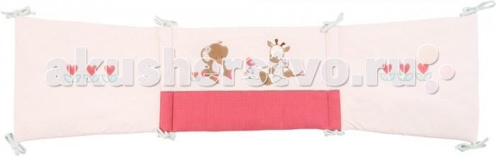 Бортик для кроватки Nattou Charlotte &amp; RoseCharlotte &amp; RoseБортик Nattou (Наттоу) Charlotte & Rose  Основные характеристики:  - универсальный мягкий бортик в изголовье кровати;  - украшен оригинальными аппликациями;  - нежные натуральные ткани;  - подходит для кроваток 120х60 см, 125х65 см и 140х70 см.<br>