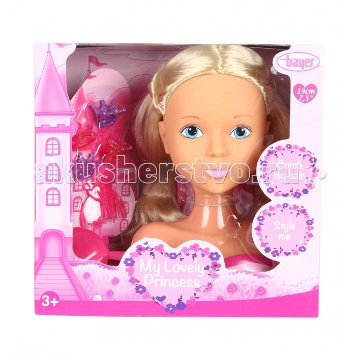 Куклы и одежда для кукол Bayer Кукла модель-торс для создания причесок с аксессуарами 19 см