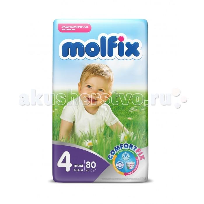 Подгузники Molfix Подгузники Comfort Fix Макси 7-14 кг 80 шт. подгузники libero comfort 4 7 14 кг 80 шт