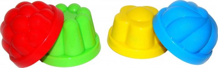 Игрушки в песочницу Полесье Формочки 4 шт. игрушки для ванны полесье паром балтик автомобиль мини 4 шт