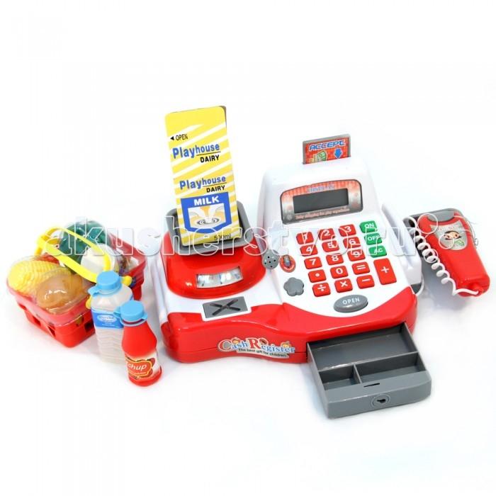 Veld CO Касса Веселый магазин 34274Касса Веселый магазин 34274Veld CO Касса Веселый магазин 34274  С кассой Веселый магазин дети смогут играть в продавцов и покупателей как нельзя реалистично. У кассы есть электронное табло, а также функции света и звука. Калькулятор и сканер штрих кода тоже работают как настоящие. В комплекте с кассой также есть деньги и игрушечные продукты. Работает игрушка от батареек.  Комплект: касса, сканер штрих-кода, продукты, деньги. Возраст: от 3 лет<br>