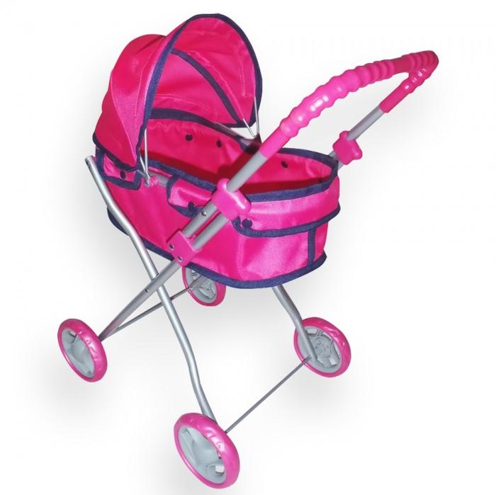 Коляска для куклы Ami&amp;Co (AmiCo) 1896418964Коляски кукольные предназначены для организации досуга детей от трех лет в помещении и на улице.  Имитируют функции и дизайн настоящих колясок. Изготовлены из экологически чистых и безвредных материалов.  Особенности:   Размер: 45 x 29,5 x 56 см<br>