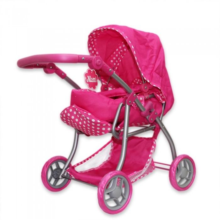 Коляска для куклы Ami&amp;Co (AmiCo) 1643016430Коляски кукольные предназначены для организации досуга детей от трех лет в помещении и на улице.  Имитируют функции и дизайн настоящих колясок. Изготовлены из экологически чистых и безвредных материалов.  Особенности:   Размер: 60 x 37 x 63 см<br>