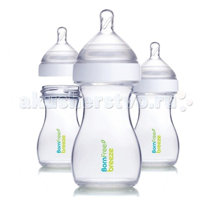 Аксессуары для кормления , Бутылочки BornFree Breeze пластик 260 мл 3 шт. арт: 231637 -  Бутылочки