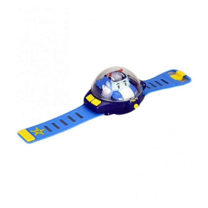 Robocar Poli Часы с мини машинкой на ДУЧасы с мини машинкой на ДУПульт управления в виде часов надевается на руку. Игрушка работает от 2-х батареек ААА. Простое управление: Поворот; Вперед; Назад. Материал - абсолютно безопасный высококачественный упругий пластик, который почти невозможно повредить.  Особенности:   Размеры упаковки: 18 x 6 x 24 см Размер циферблата: 7 х 8.5 см  Длина ремешка: 29 см Вес: 0,21 кг<br>