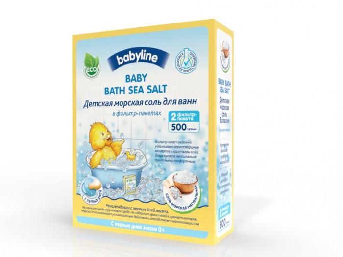 Соли и травы для купания Babyline nature Соль морская Натуральная для ванн 2 шт фильтр-пакета 500 г соль для ванн малавит флора берёза 500 г