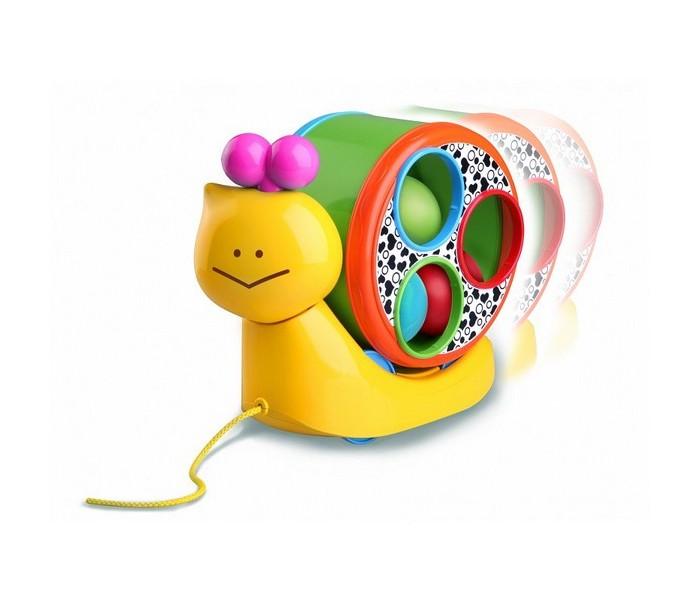 Каталка-игрушка B kids Веселая улитка на веревочке