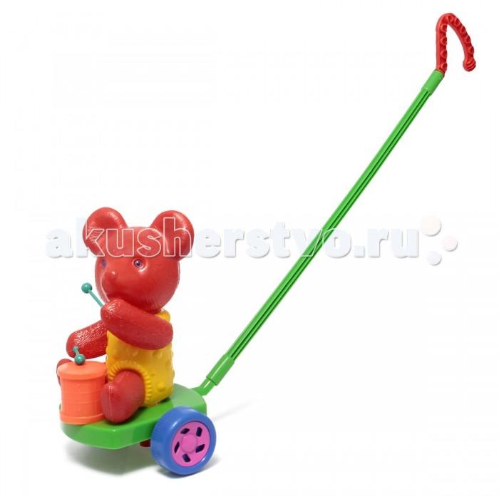 Каталки-игрушки Ami&Co (AmiCo) Мишка с барабаном мобили amico развивающая игрушка подвеска мишка
