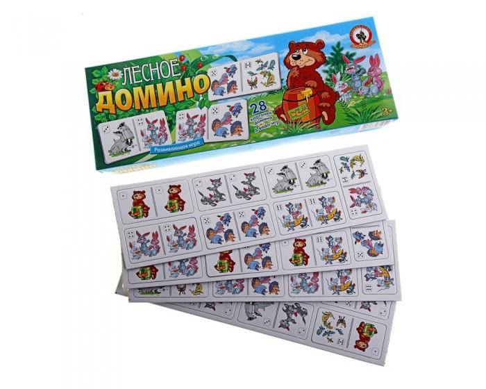 Игры для малышей Русский стиль Домино Лесное
