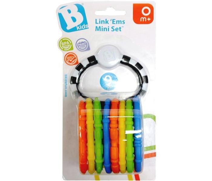 Прорезыватели B kids цепь Веселые колечки 9 шт.