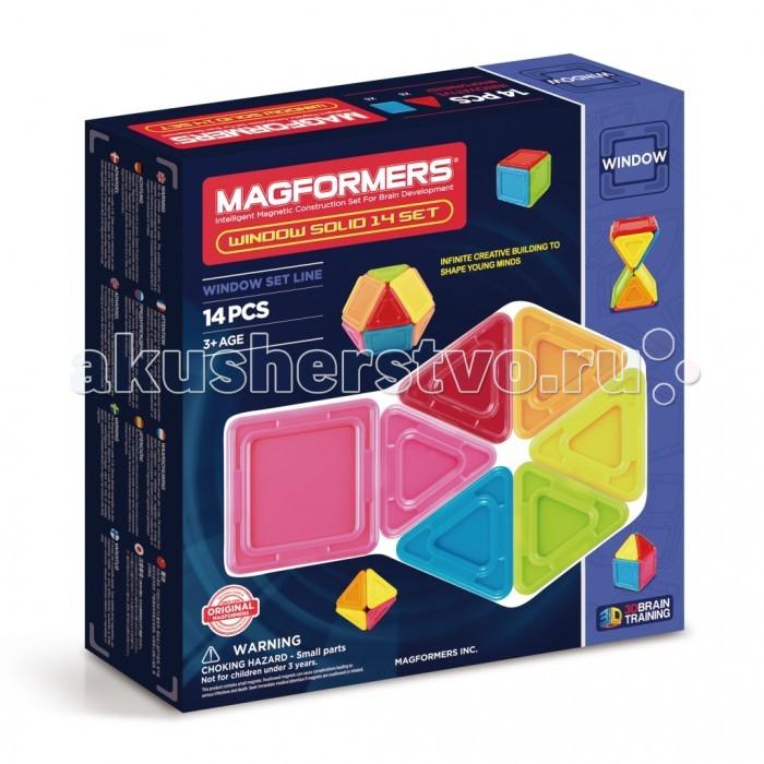 Конструкторы Magformers Магнитный Window Solid 14 элементов магнитный конструктор magformers window solid 14 элементов 714005