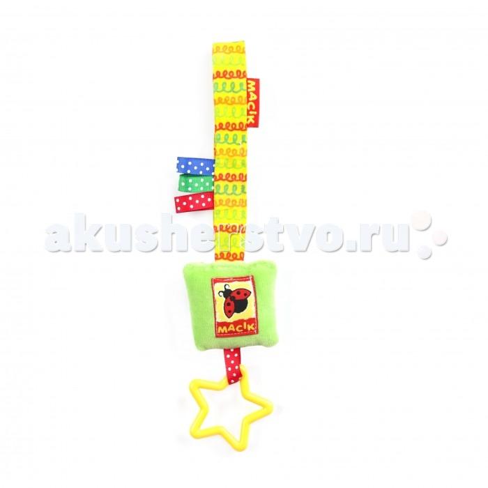 Подвесные игрушки Macik на липучке Погремушка погремушка macik треугольник с колечками mkp 1601 03