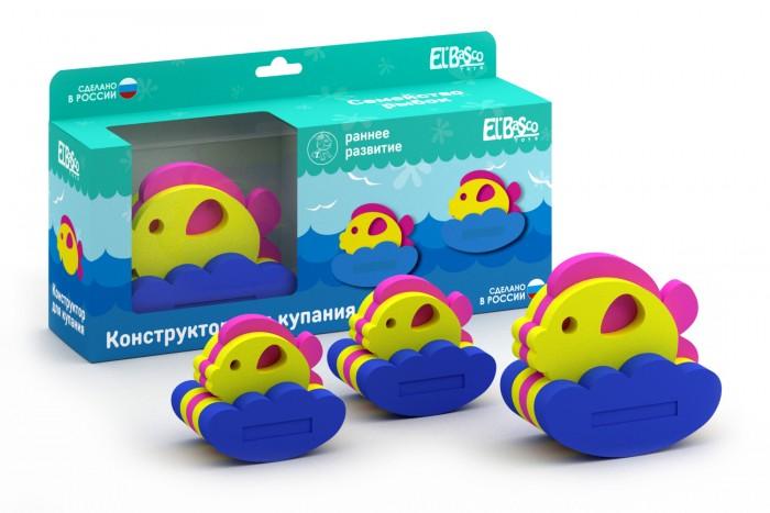 Игрушки для ванны ElBascoToys Игрушка-конструктор для купания Семейство рыбок игрушки для ванны сказка игрушка для купания транспорт