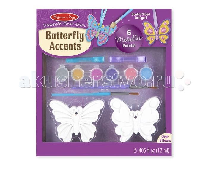 Заготовки под роспись Melissa & Doug Создай игрушки-бабочки набор эм 124 4ап2 бабочки п 1148051