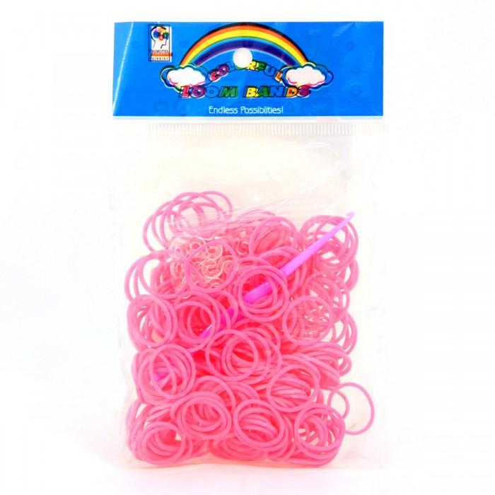 Наборы для творчества Veld CO Набор для плетения браслета: розовые резиночки 300 шт, застёжка, крючок набор для творчества diy резиночки для плетения слоник