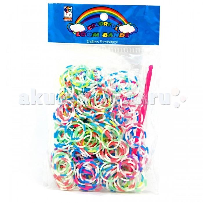 Наборы для творчества Veld CO Набор для плетения браслета: двухцветные 300 шт, застёжка, крючок набор для творчества diy резиночки для плетения слоник