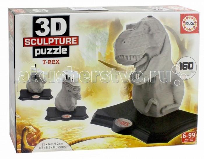 Пазлы Educa 3D Скульптурный пазл T-REX 160 деталей пазлы magic pazle объемный 3d пазл эйфелева башня 78x38x35 см
