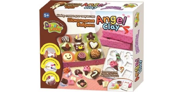 Всё для лепки Angel Clay Масса для лепки Шоколадная мастерская фантазер мастерская лепки глиняная свеча живой огонек