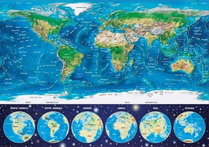 Пазлы Educa Пазл Неоновая карта мира 1000 деталей маршрутизатор trendnet tew 810dr 802 11acbgn 733mbps 2 4 ггц 5 ггц 4xlan черный