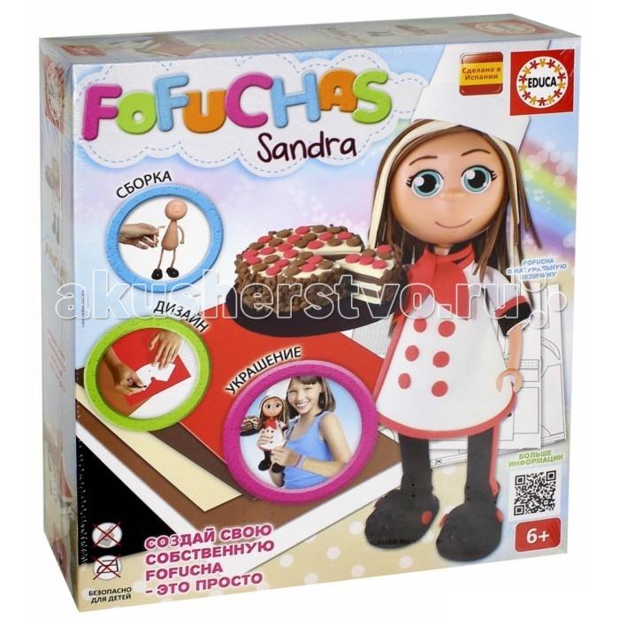 Educa Набор для творчества в виде куклы Фофуча СандраНабор для творчества в виде куклы Фофуча СандраНабор Fofuchas Сандра из серии Создай свою куклу от испанского производителя Educa предоставит ребенку возможность самому сделать себе игрушку. В комплект входит все для этого необходимое. Все действия по созданию ребенок будет производить сам, от сборки тела куклы, до создания одежды. Такое занятие приучит ребенка к усидчивости, поможет развить творческое и логическое мышление. В результате он получит приятную куклу Сандру с тортом в руках. Игрушку позднее можно будет использовать для игры или просто поставить на полку, чтобы любоваться результатом своего творчества.  Особенности:   Размер упаковки: 38 x 30 x 7 см Высота куклы: 30 см<br>