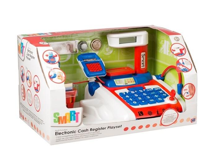 HTI Электронная касса SmartЭлектронная касса SmartИгровой набор HTI Большая электронная касса Smart со звуковыми эффектами позволит малышу напрямую соприкоснуться с миром торгово-потребительских отношений.   С помощью этого набора ваш ребенок сможет научиться правильно вести себя в магазине и делать покупки.   Порадуйте его таким замечательным подарком!<br>